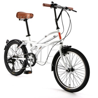 DOPPELGANGER 330-N-WH サントリーニ ロードヨット [ミニベロ(20インチ・7段変速)] 折りたたみ自転車・ミニベロ