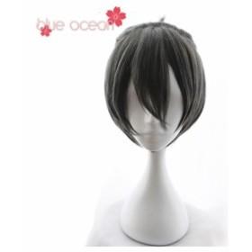 覆面系ノイズ ユズ 杠花奏 ゆずりは かなで  風 コスプレウィッグ かつら  cosplay wig 耐熱 専用ネット付