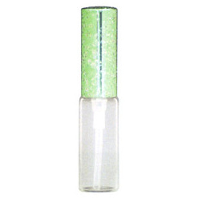 ヒロセ アトマイザー HIROSE ATOMIZER ラメ アルミキャップ ガラス アトマイザー 56187 (ラメCAP 4ML グリーン) 4ml