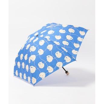 【オンワード】 MOONBAT(ムーンバット) cocca ペーパーフラワーズ 折りたたみ傘 サックスブルー F レディース 【送料無料】