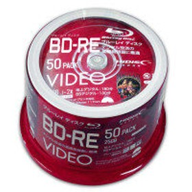 磁気研究所 HIDISC BD-RE 録画/DATA共用 書換対応 2倍 VVVBRE25JP50 1ケース(50枚)