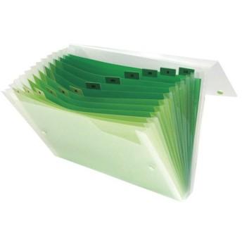 ビュ−トンジャパン グラデ ドキュメントファイル A4 13ポケット グリーン GDF-A4-13GN 1冊
