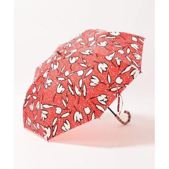 【オンワード】 MOONBAT(ムーンバット) cocca チューリップ 折りたたみ傘 レッド F レディース 【送料無料】