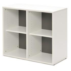 シェルフ 2列2段 格子型 プリーマ 幅80cm  ( 送料無料 ラック 棚 書庫 収納家具 ファイル棚 格子 本棚 カルテラック 80センチ ダー