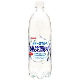 炭酸水 送料無料 サンガリア 伊賀の天然水 強炭酸水 1000ml 1L×12本/1ケース