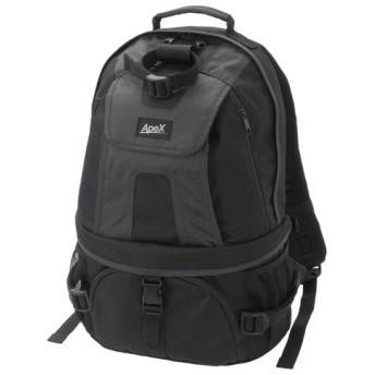エツミ カメラバッグ リュック アペックスキャニオンM 17L ブラック/ブラック VE-4208 代引不可