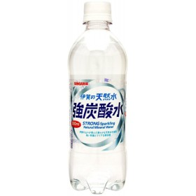 炭酸水 送料無料 サンガリア 伊賀の天然水 強炭酸水 500ml×2ケース