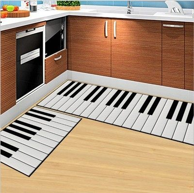 時尚創意地墊193 廚房浴室衛生間臥室床邊門廳 吸水長條防滑地毯(40*120cm 1件裝)