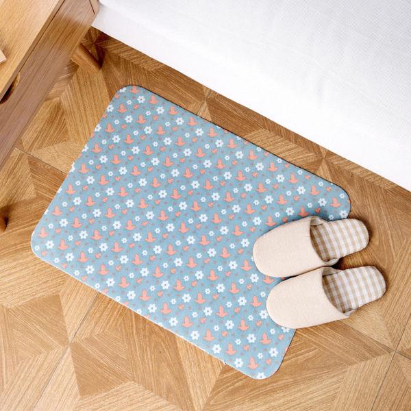 時尚創意地墊190 廚房浴室衛生間臥室床邊門廳 吸水長條防滑地毯(44*59.3cm 1件裝)