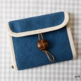 帆布のアクセサリーケース(深青)