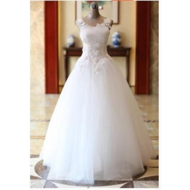 a21b6a905c8ec 花嫁ドレス ウエディングドレス披露宴二次会気質バックレス Aライン ロングドレス 白ホワイト ウエディング