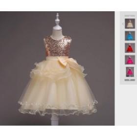 b55683c714ec3 100-160cm子供ドレス フォーマル ドレス 演出 お姫様 お嫁さん フラワーガール ドレス ジュニア ワンピース