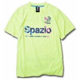 Spazioスパッツィオ COLORDOT 半袖プラクティスシャツ Mサイズ GE-0318 (27)ネオンイエロー