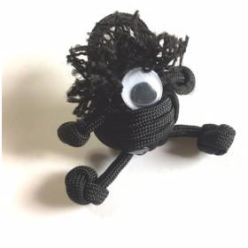 パラコード人形 黒丸
