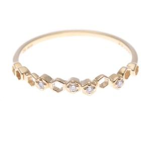 ソーイ sowi 【K10・ダイヤモンド】幸せを運ぶもの 蜂の巣 リング (ゴールド)