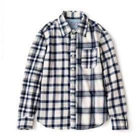 【DOPE & DRAKKAR】マリンチェックネルシャツ