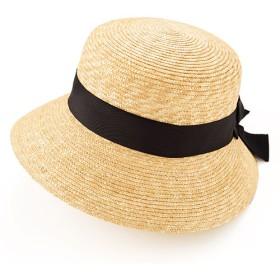 【田中帽子店】つば短麦わら女優帽