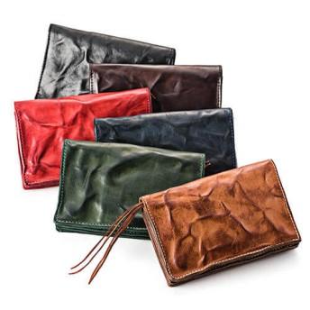 【三竹産業】ANNAK ウォッシュドレザー ミドル2つ折財布