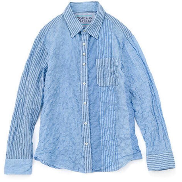 【DOPE & DRAKKAR】Fab Garden ストライプ ライトシャツ
