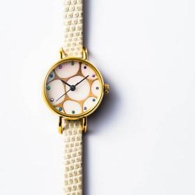 【うるしアートはりや】蒔絵腕時計 Filo01s
