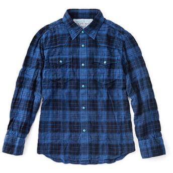 【DOPE & DRAKKAR】Fab Garden 天然染チェックウエスタンシャツ