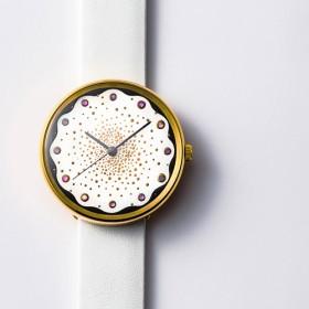 【うるしアートはりや】蒔絵腕時計 Punto01