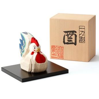 【高橋勇二】奈良一刀彫 干支飾り「酉(とり)」大