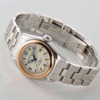 【SPQR】Ventuno fj「ピンクゴールドベゼルケースxSS+観音開きバックル腕時計」