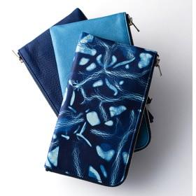 【池之端銀革店】CrampxSUKUMO Leather 藍染めL字ファスナーロングウォレット