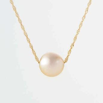 【田辺真珠養殖場】8.5mmアコヤ真珠ゴールドパール18金ネックレス
