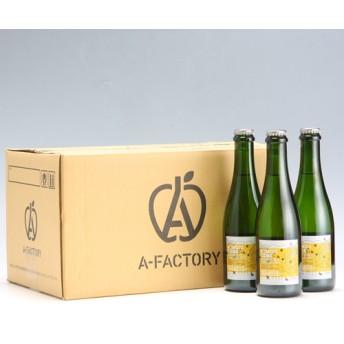 【A-FACTORY】アオモリシードル アップルソーダ/375mlx12本