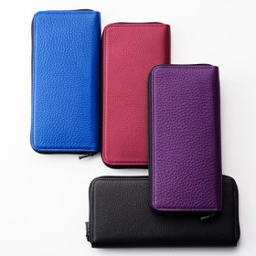 【Vintage Revival Productions】roundzip slim wallet/shrink leather