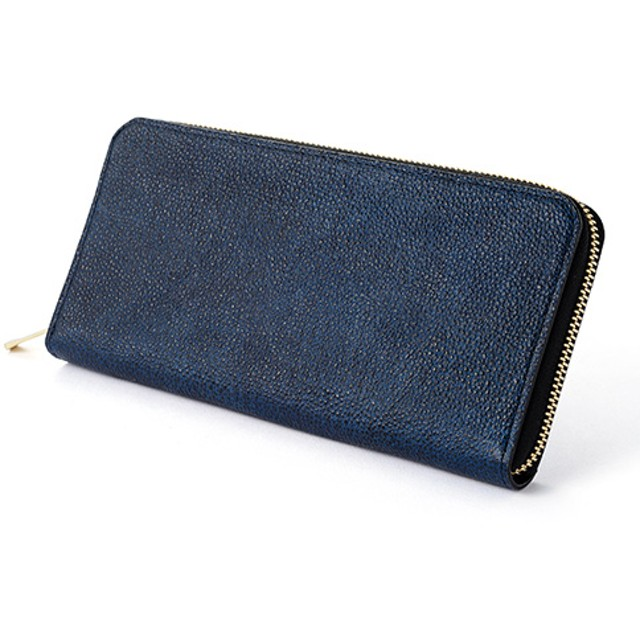【COTOCUL】黒桟革 ラウンドファスナー長財布