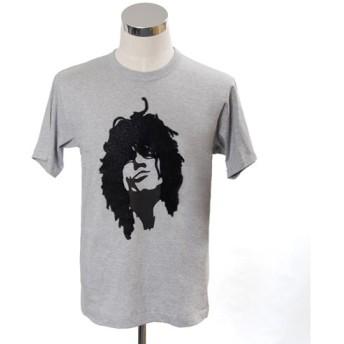 【beanxious】ティーヘッドx久米繊維工業コラボ/フロッキープリントTシャツ(サンダーフェイス)