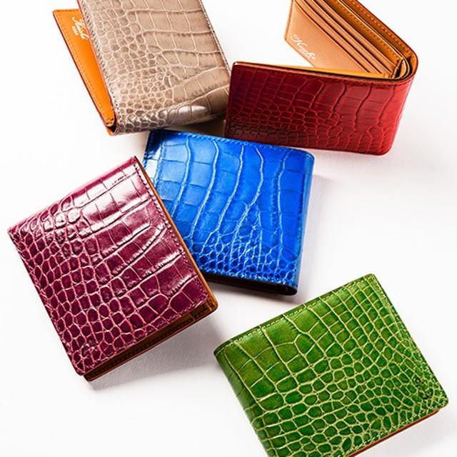 【Kiichi】Alike クロコ型押し二つ折り財布