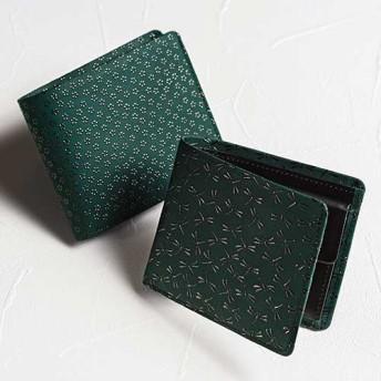 【JIZAINGxINDEN】二つ折り財布(グリーン革)