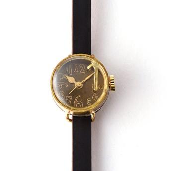 【ArtyArty】クラフト時計/K1「メタルナンバー フローティングミニ」
