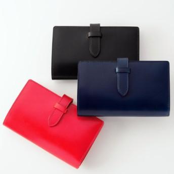 【Munekawa】fasten ストラップ付縦長二つ折り財布