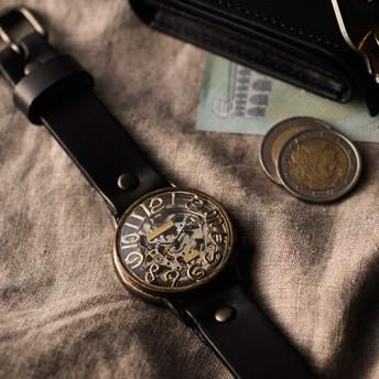 【ArtyArty】クラフト時計/NABE「自動巻きスケルトンBMA022」