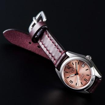 【SPQR】Ventuno pr「ピンク文字盤xSOMESベルト腕時計」