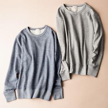 【久米繊維工業】SUSTAINABLE+LINE オーガニックコットンx吊裏毛 スウェットシャツ