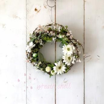 Flower garden wreath ほんのり和花・桜を添えて