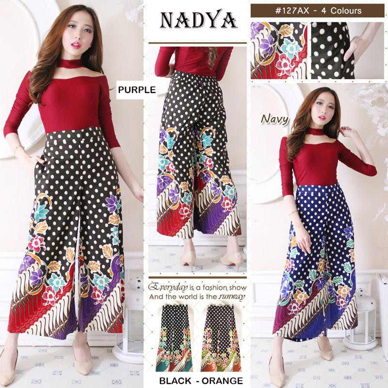 Harga Celana kulot rok panjang batik wanita jumbo long pant Felicia Source Kulot .