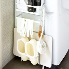 ベルーナインテリア 洗濯機横マグネット収納ラック tower ホワイト 1
