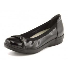SALE!Stylish Easy(スタイリッシュイージー) レディース 軽量バレエシューズ 663039 ブラック パンプス ローヒール(-3.5cm)