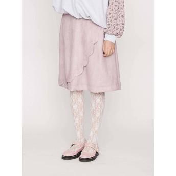 [merry jenny]スカラップミディスカート
