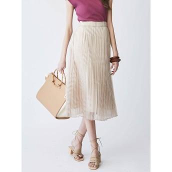 [LAGUNAMOON]パッチワークストライププリーツスカート