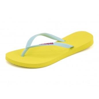 レディース SALE!havaianas(ハワイアナス) SLIM LOGO POP-UP(スリムロゴポップアップ) 4119787 2827 リバイバルイエロー【ネット通販特別価格】 サンダル トング