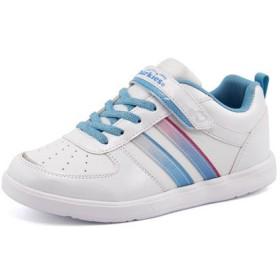 CHARKIES(チャーキーズ) キッズ スニーカー【軽量】 CH1521 ホワイト/サックス 運動靴 ガールズ