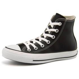 レディース converse(コンバース) LEA ALL STAR HI(レザーオールスターHI) 1B908 ブラック スニーカー ハイ/ミッドカット